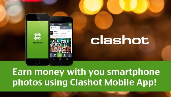 Earn money with you smartphone photos using Clashot Mobile