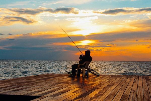 Free Photo of man, fishing, sunset - StockSnap.io