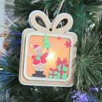 Gift Shaped Wooden Christmas Ornament Olive Tree Hotel