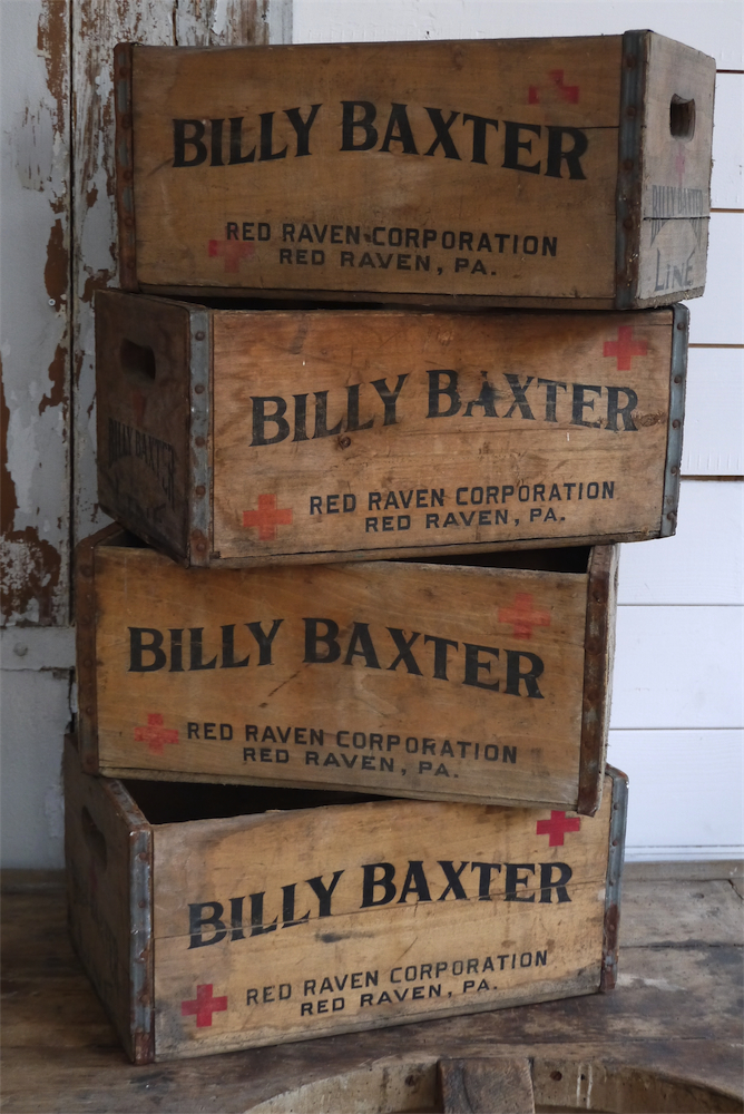 1 grande caisse bois brasserie billy baxter
