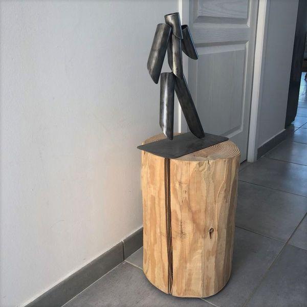 rondin de bois brut