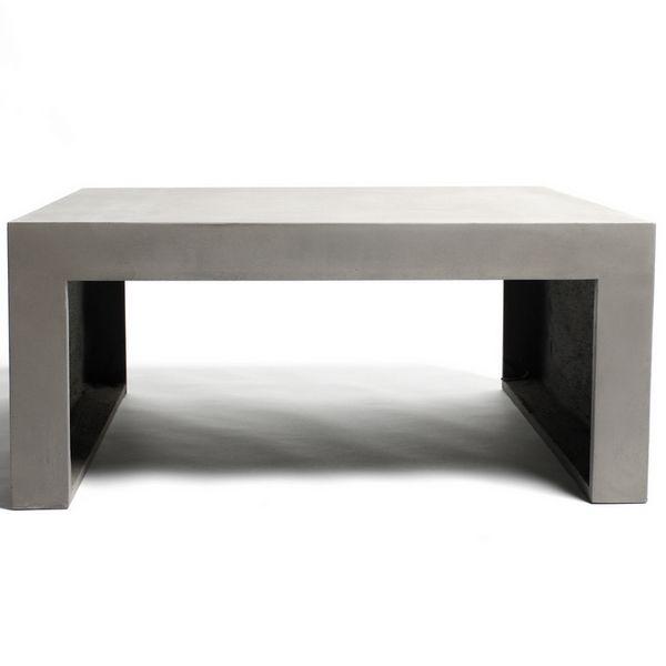 table basse carree beton table carree pour salon design