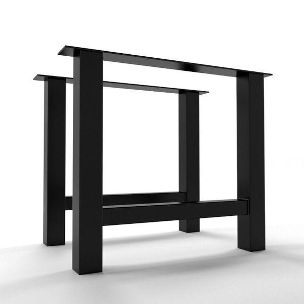 2 x pied de table metal h 74 cm