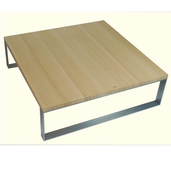 table basse chene metal 100