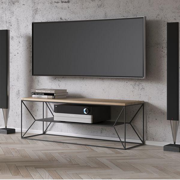 meuble tv metal bois
