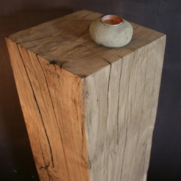 colonne bois brut