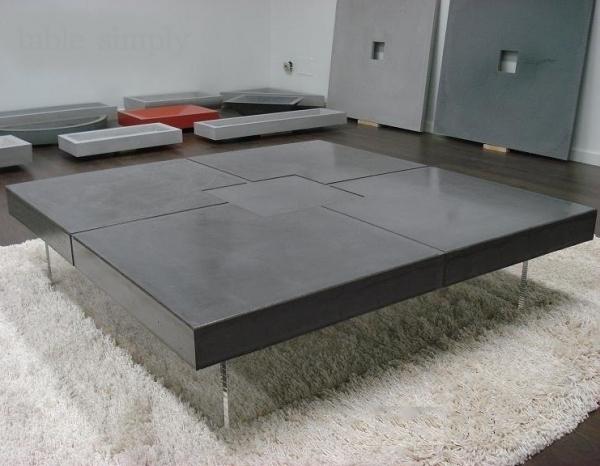 table design beton cire gris fonce