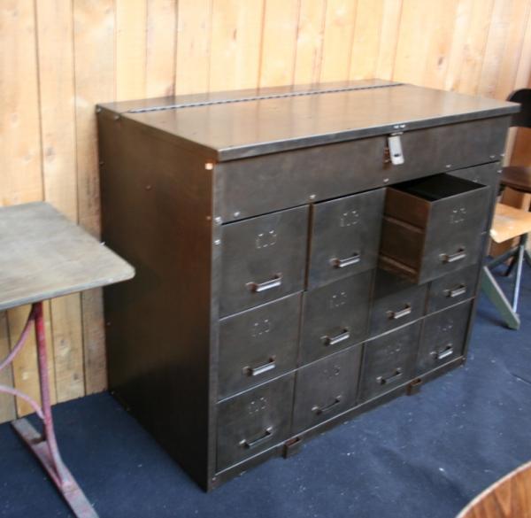 meuble industriel casier meuble metal