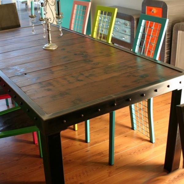 voir aussi table metal bois