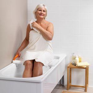 planche de bain fresh avec poignee avec butees contre la paroi de la baignoire existe en 2 tailles