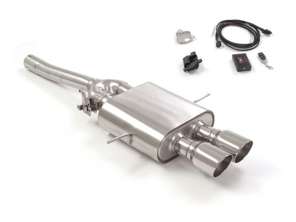 rear end 2 90mm sport exhaust with electronic valve and wifi remote control for mini cooper s r56 1 6 turbo and jcw