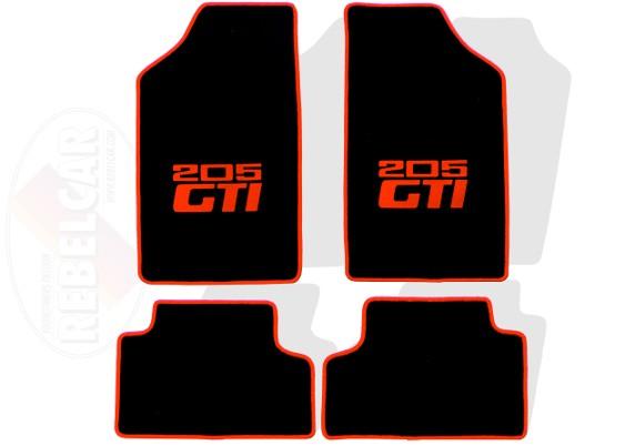 set de tapis de sol noirs pour 205 gti modele a options personnalisees fabrique sur commande delai indicatif 5 a 8 semaines