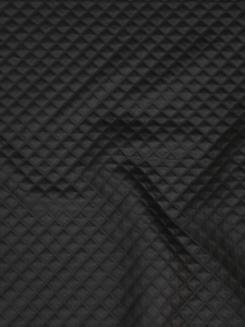 tissu simili cuir matelasse vendu au metre en noir