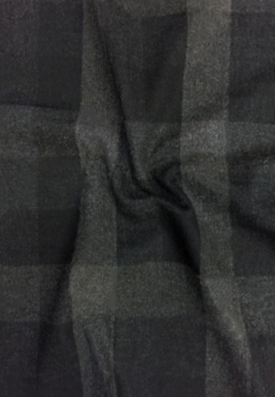 tissu carreaux lainage vendu au metre en noir gris