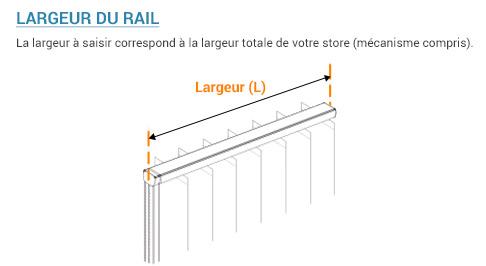 ᐅ rail store californien sur mesure