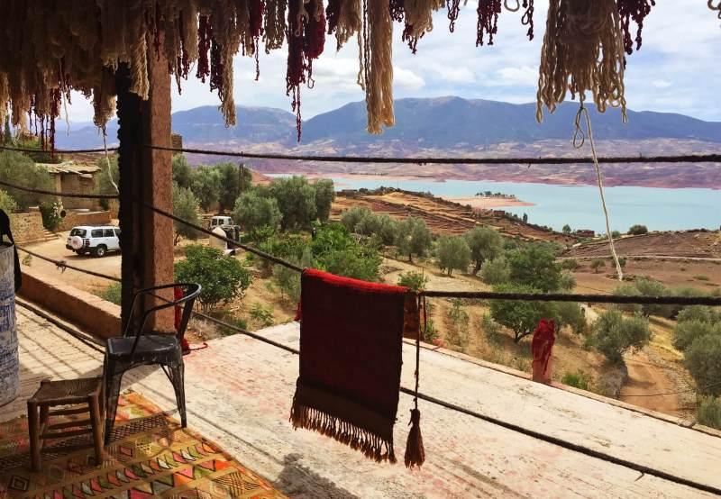 La vue de la maison de la famille Mustafa Hanseli était à couper le souffle.