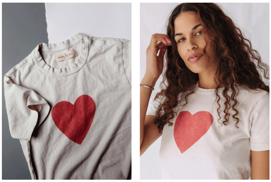 heart tee by Imogene + Willie