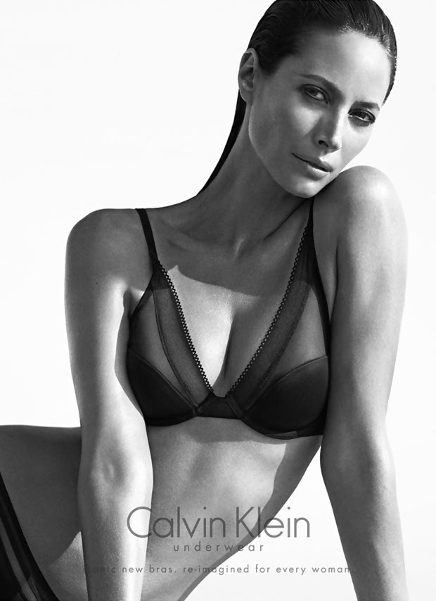 Christy Turlington Burns lingerie Calvin Klein advertising