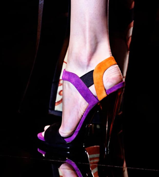 colorful suede sandals Gucci Spring 2014