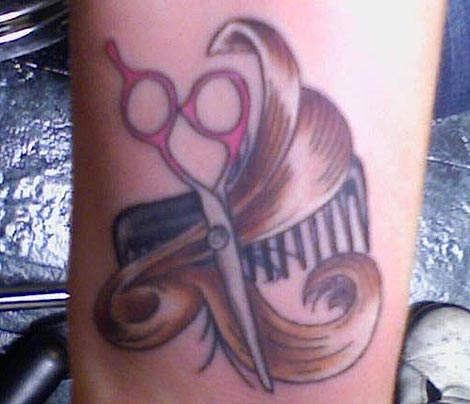 the gallery for hair stylist tattoos