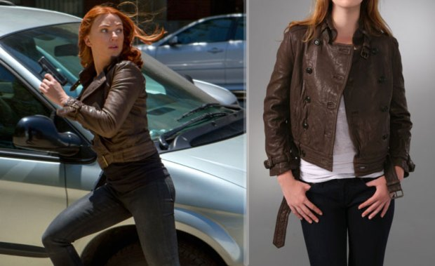 Casual Cosplay Marvel Comics Fashion Outfit Comic Movie The Avengers Avenger Black Widow Natasha Romanoff Captain America Winter Soldier Brown Leather Jacket Dark Jeans Superhero Superheroine Scarlett Johansson