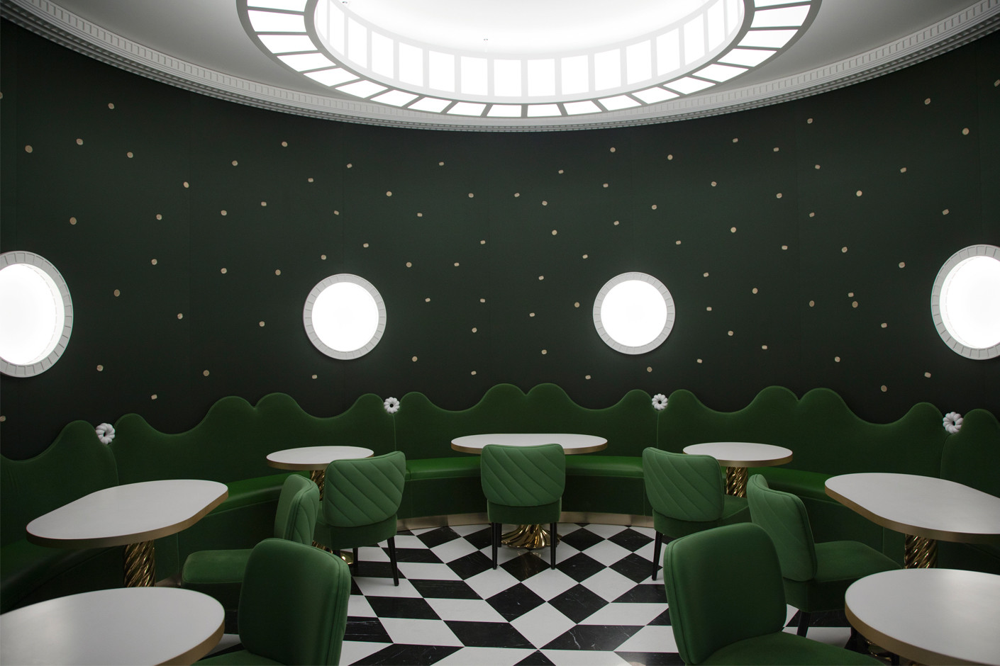 India Mahdavi Has Designed A Cafe For Ladur 233 E Stylepark