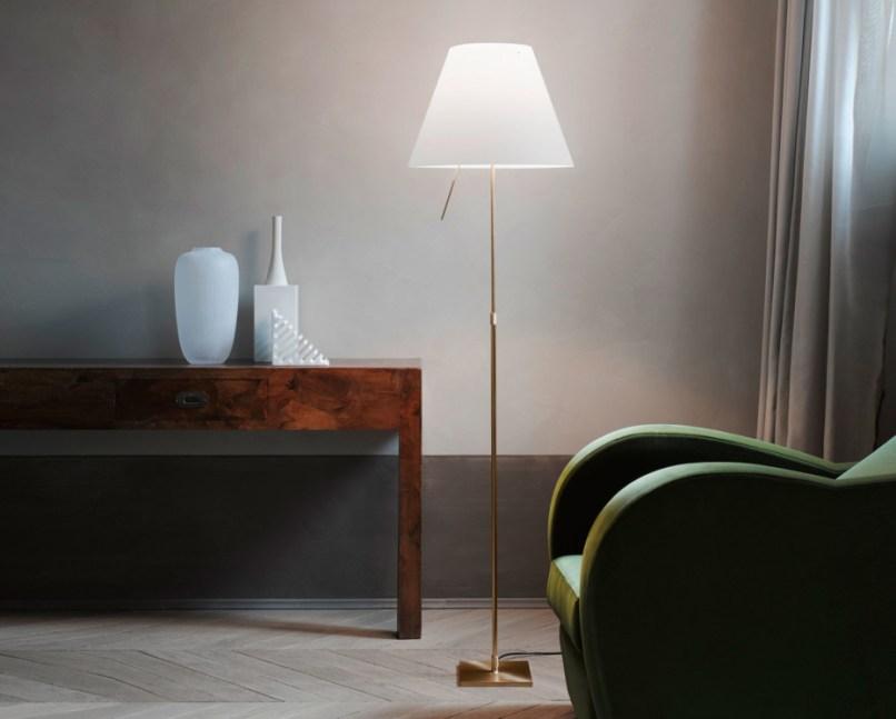 Costanza brass floor lamp by luceplan stylepark