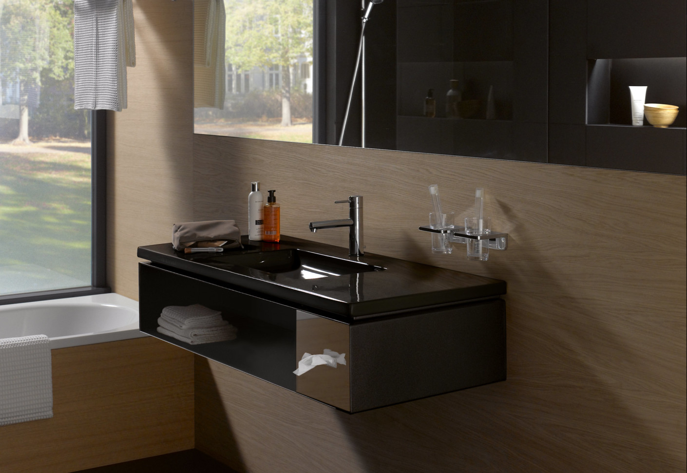 Living Square Vanity Unit For Hotel With Tissue Box By