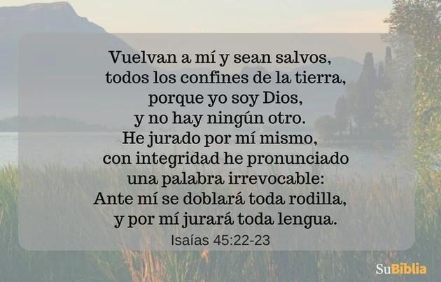 Isaías 45:22-23