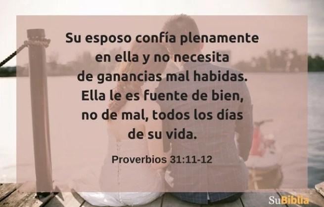 Proverbios 31:11-12