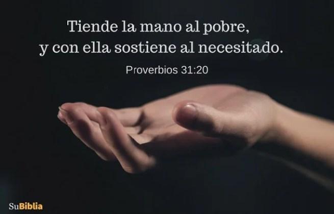 Proverbios 31:20