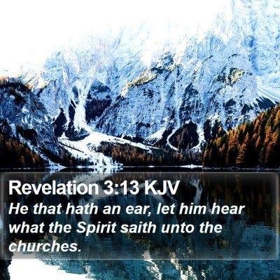 Revelation 3 Scripture Images - Revelation Chapter 3 KJV Bible Verse Pictures