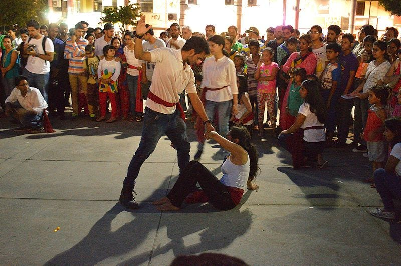 File:Street Theatre on Domestic Violence - Bridge Market Plaza - Chandigarh 2016-08-07 9101.JPG