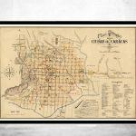 Old Map Of Caracas Venezuela 1889 Vintage Map Vintage Maps And Prints