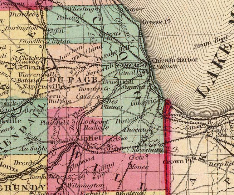 Old Map Illinois 1860 Old Map Illinois 1860   product image