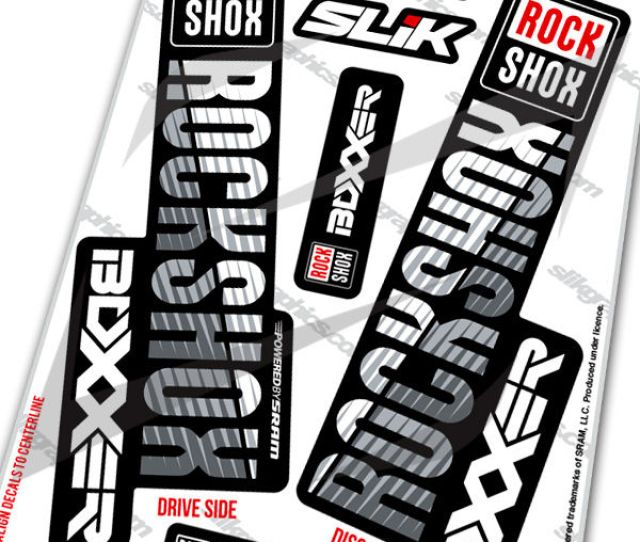 Rockshox Boxxer 2018 Style Decals Black Forks Product Images Of