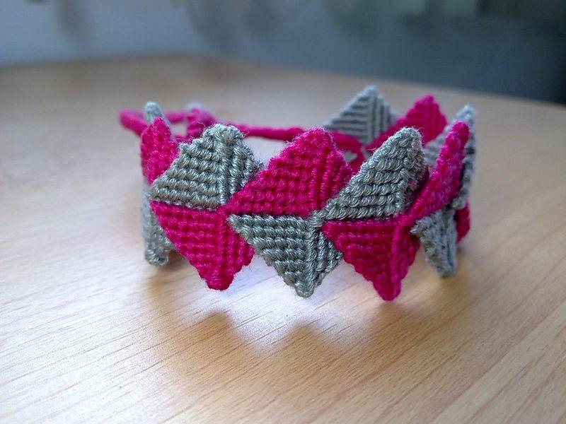 Friendship Bracelet Intertwined Zig Zag Macrame Bracelet Made To Order Kaliste Bracelets