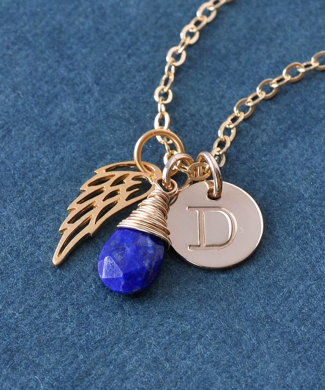 Personalized Stillborn Baby Necklace With September