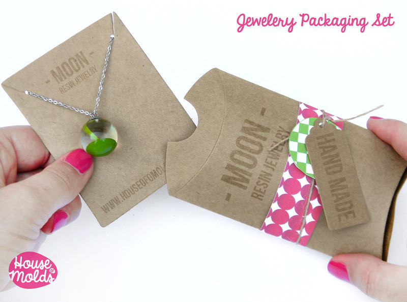 Kraft Paper Simple Blank Jewelry Packaging SetPillow