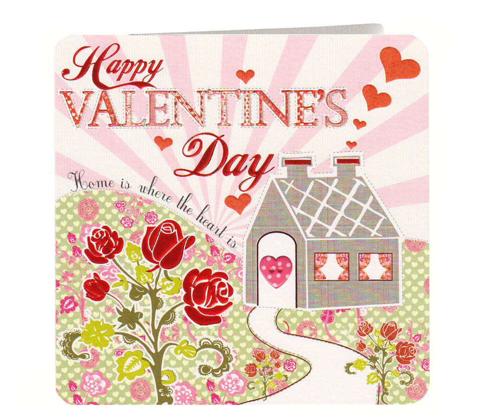 Home Is Where The Heart Is Valentines Day Card Karenza