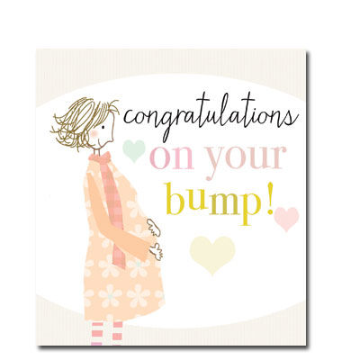 Congratulations On Your Bump Card Karenza Paperie
