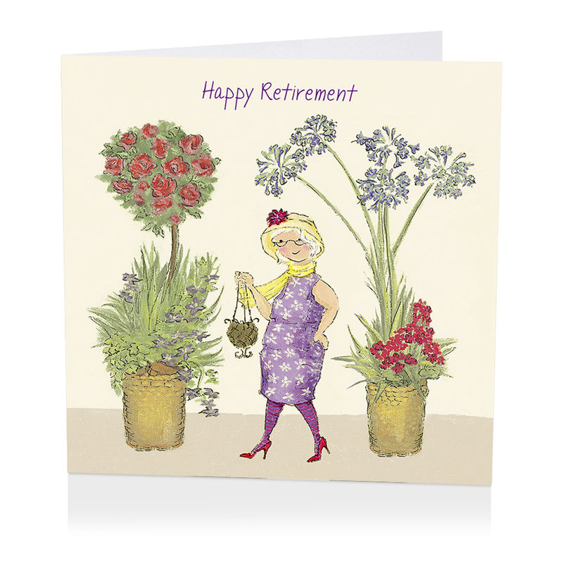Floral Happy Retirement Card Karenza Paperie