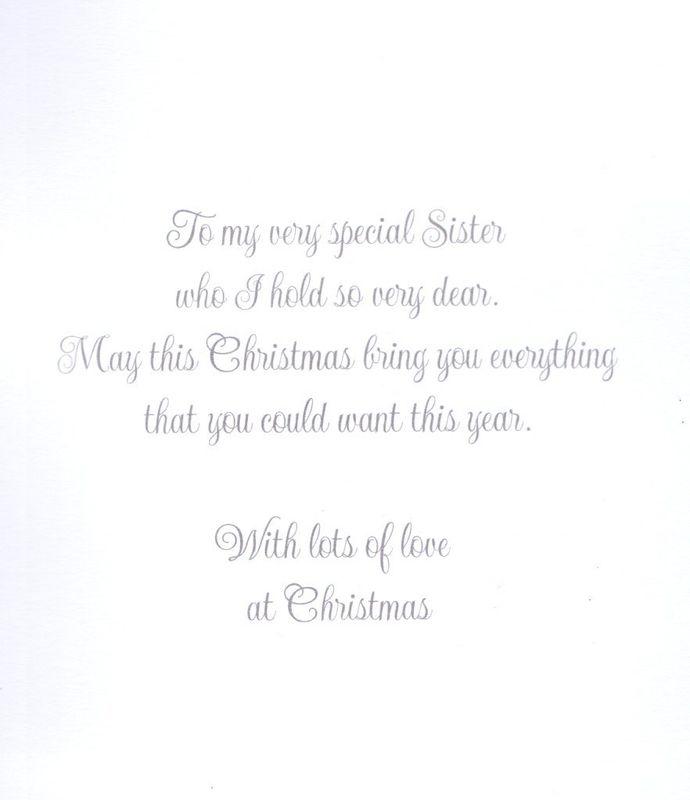 Handmade Fabulous Sister Christmas Card Karenza Paperie