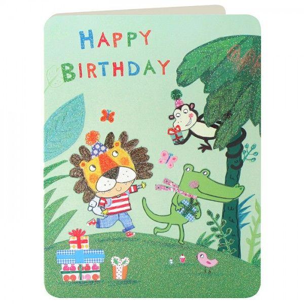 Jungle Animals Boys Birthday Card Karenza Paperie