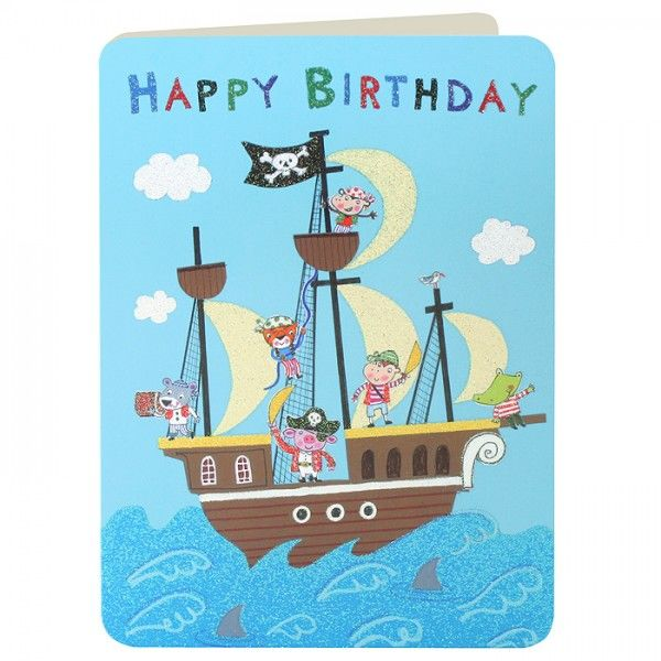 Pirates Amp Pirate Ship Boys Birthday Card Karenza Paperie