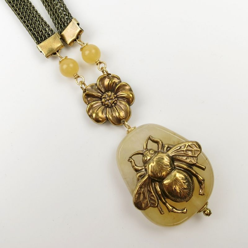 Jan Michaels Bee Hive Necklace TALICH