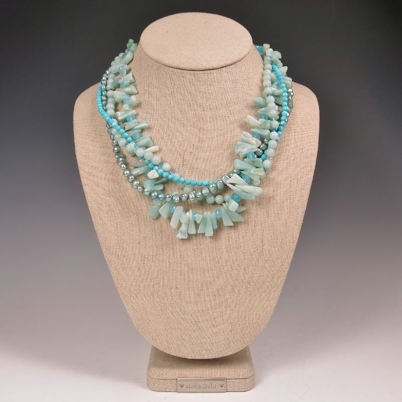 Echo Of The Dreamer Multistrand Bead Necklace TALICH