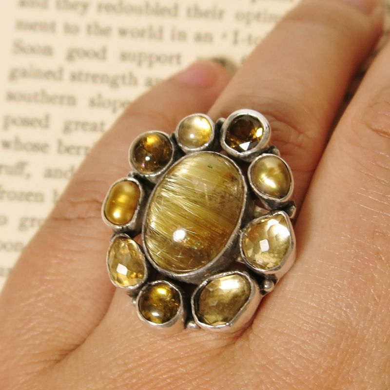 Echo Of The Dreamer Sterling Silver Multi Gem Ring TALICH