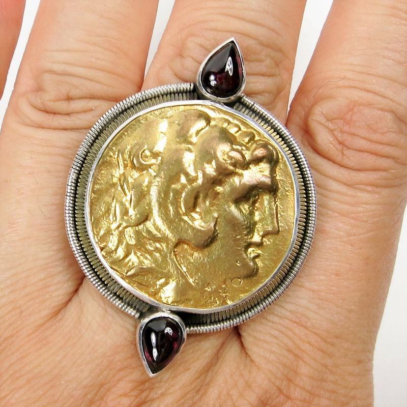 Amy Kahn Russell Alexander Coin Sterling Silver Ring