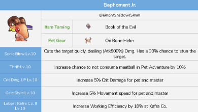 Photo of Daftar Skill dan Pet Taming Ragnarok Mobile Eternal Love
